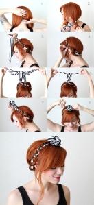 Couronne tresse foulard